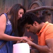 Bigg Boss 7 Gauhar Khan and Kushal Tandon on Camera Romance