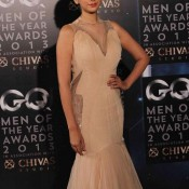 Aditi Rao Hydari in Gaurav Gupta White Gown at The GQ Man of The Year Awards 2013