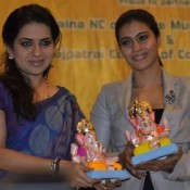 Bollywood Actress Kajol at Times Green Ganesha Launch Photos