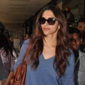 Deepika Padukone Arrives from Dubai for Ramleela Launch Event