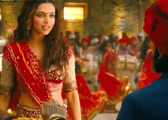 Deepika Padukone in Nagada Sang Dhol Baaje Video Song of Ram Leela Movie