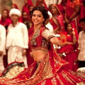 Deepika Padukone in Red Traditional Dress at RAM LEELA First Look