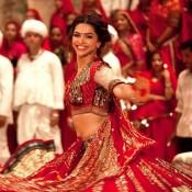 Deepika Padukone in Red Traditional Dress at RAM LEELA First Look