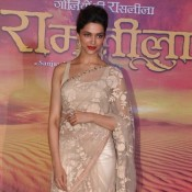 Deepika Padukone in Transparent Saree at RAM LEELA Promotion Events Photos