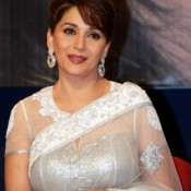 Madhuri Dixit in White Saree – Spicy Pics New Photoshoot