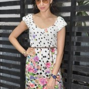 Hot Neha Ahuja in White Floral Dress at ISHK Actually Press Meet