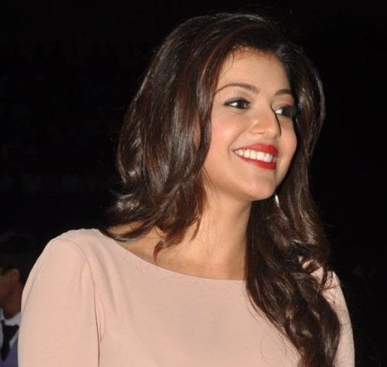 Kajal Agarwal in Gown – White Gown Hot Legs Milky Thighs Photos