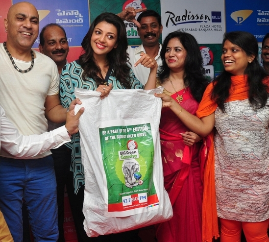 Kajal Agarwal at BIG Green Ganesha 2013 Campaign Launch Images