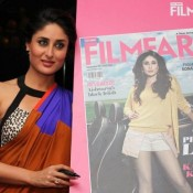 Kareena Kapoor Hot In Orange Block Saree – At Launch Of Filmfare Magazine September