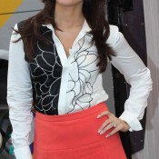 Kareena Kapoor in White Black Shirt and Red Skirt Photos