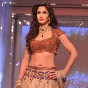Katrina Kaif Navel Show Hot Photos on Fashion Show Ramp Walk at Yash Chopra 81th Bday Anniversary