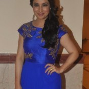 Tisca Chopra in Blue Traditional Dress Anarkali Churidar Suits New Pics