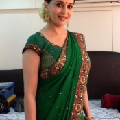 Madhuri Dixit in Green Saree – Traditional Look Indian Saree Pics
