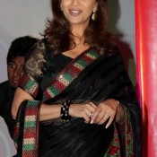 Madhuri Dixit in Black Saree – New Stills Nice Images