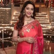 Madhuri Dixit in Red Saree – Bollywood Actress Madhuri Dixit Saree Pics