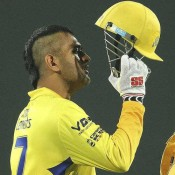 Mahendra Singh Dhoni New Hairstyle 2013