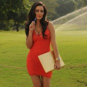 Maryam Zakaria in Orange One Piece in Grand Masti