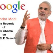 Narendra Modi Breaks Record of Barack Obama on Google Search