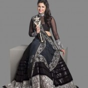 Parineeti Chopra In Black Lehenga Choli At Stardust Award 2013