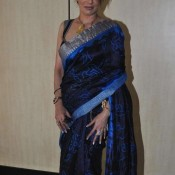 Poonam Jhawar in Saree – Hot Poonam Jhawar in Blue Sleeveless Saree Photos
