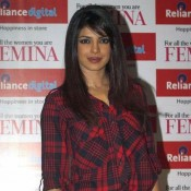 Priyanka Chopra In Black Mini Skirt – On The Cover Of Femina Magazine Issue