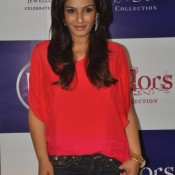 Raveena Tandon Hot Pic in Red Top Launches Waman Hari Pethe Jewellers New Collection at Colors Events