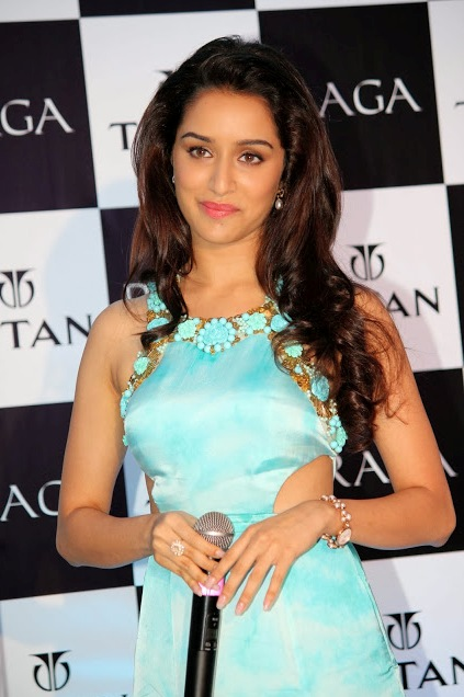 Shraddha Kapoor in Blue Gown at The Raga Pearls Collection Launch Hot Images