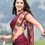 Shruti Hassan Hot Navel in SAREE – Navel Show Pics