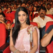 Shruti Hassan in Pink Saree Hot Pics