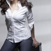 Shruti Hassan White Shirt Blue Jeans Hot Images