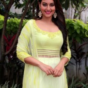 Sonakshi Sinha Yellow Dress at Star Plus Diwali Celebration