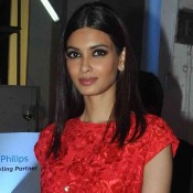 Diana Penty in Red Floral Dress at Lakme Fashion Week Winter Festive 2015