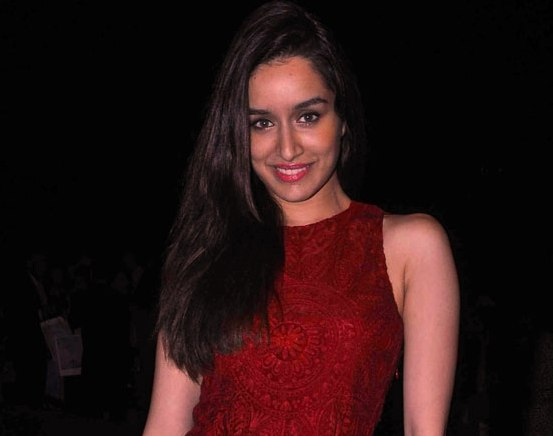 Shraddha Kapoor in Designer Red Maxi Gown at Lakme Fashion Week Winter Festive 2015