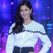 Katrina Kaif in Black Mini Skirt at Phantom Promotion on the Sets of Dance Plus
