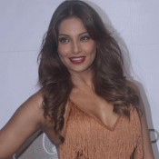 Bipasha Basu in Short One Piece Sleeveless Dress for Royalty Event Latest 2015 Photos