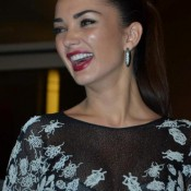 Amy Jackson in Black High Neck Gown at GQ Men of The Year Awards 2015 Photos