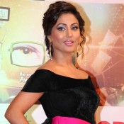 Hina Khan in Ita Awards 2015 – New looks in Pink Black Floor Length Gown