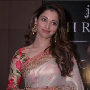 Tamannaah Bhatia in Saree with Floral Printed Blouse Photos at Joh Rivaaj Fashion Show 2015