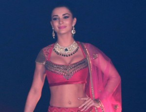 Amy Jackson in Lehenga Choli Photos – Singh Is Bliing Movie Promotion Event