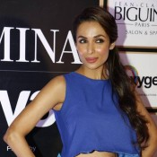 Malaika Arora Khan in Blue Crop Top with Green Maxi Skirt Photos 2015