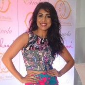 Pallavi Sharda in Pink Short Skirt Photos for Launched Pookaari Event 2015