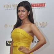 Nimrat Kaur in Yellow off Shoulder Gown at Watch World Awards 2015