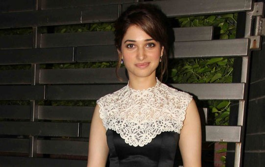Tamannaah Bhatia in Black High Neck One Piece at Glenfiddich Dinner