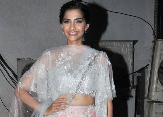 Sonam Kapoor in Lehenga Blouse for Life OK Diwali Special Event 2015