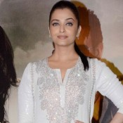 Aishwarya Rai at Jazbaa Movie Premiere Photos – New Look in White Cut Out Kaftan Dress