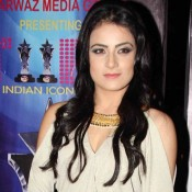 Radhika Madan in Short One Piece Dress at The Indian Icon Film Award 2015