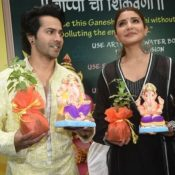 Anushka Sharma and Varun Dhawan Launched Green Ganesha Idol in Mumbai